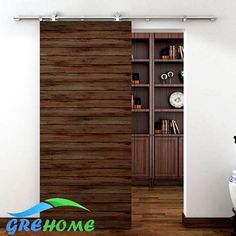 Sliding Door Type: Partition DoorsPosition: InteriorCharge Unit: SetDoor Material: CompositeType: Sliding DoorsBrand Name: barndoorOpening Method: Side OpeningSurface Finishing: FinishedMain Material: PolymerFrame Material: PolymerOpen Style: SlidingDoor Type: PolymerModel Number: S06load-bearing: 175kgrail/track: 2mdoor thickness: 40-45mmdoor width: less than 1mMaterial: stainless steelMounted: Wall