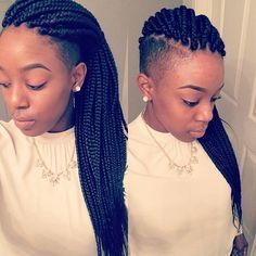 african american braid hairstyles with shaved haircut - Google Search
