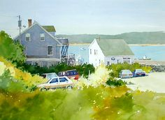 Watercolor on the coast