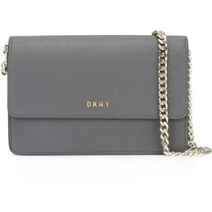 Dkny Bryant Park Small Bag found on Polyvore featuring bags, handbags, shoulder bags, dark grey, leather purses, genuine leather shoulder bag, flap purse, genuine leather purse and flap handbags