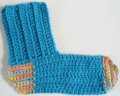 "Free pattern for ""Sock Dishcloth""!"