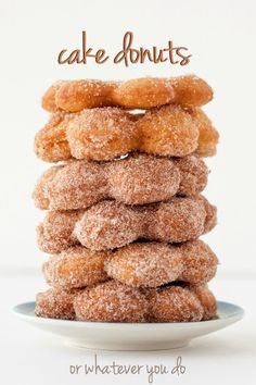 Cake Donuts - made from scratch! These are super easy and soooo delicious.