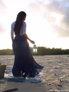 Virtuosas com Estilo: Meu Look: Blue as the sea...