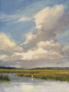 Swirling Sky by Laurel Daniel Oil ~ 12 x 9