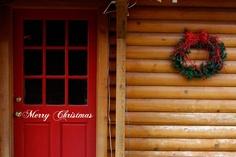 Vinyl Merry Christmas Front Door Decal Home Decor. $7.95, via Etsy.