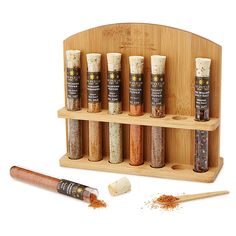 Spiced Sea Salt Collection   flavored salt   UncommonGoods