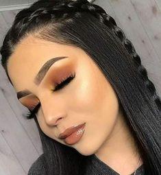 Makeup Eye Looks, Cute Makeup, Gorgeous Makeup, Pretty Makeup, Beauty Makeup, Hair Beauty, Glam Makeup, Brown Makeup Looks, Black Hair Makeup