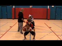 BTG Youth Basketball Drills #1.  Triple threat, crossover, pivots, ball handling circles