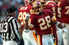 """Darrell Green, the """"Ageless Wonder,"""" played as a cornerback at a high level for an astonishing 20 seasons (1983-2002) with the Washington Redskins, proving to be a durable and consistent player. In that span, he pulled in 54 interceptions while winning two Super Bowls. Green was one of the fastest players in NFL history; he was a four-time recipient of the league's Fastest Man Award. Green was also voted to seven Pro Bowls and was selected to the NFL's All-Decade Team of the 1990s."""