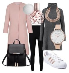 """""""sporty but classy"""" by mayaop on Polyvore featuring Boohoo, Madeleine Thompson, adidas, Olivia Burton and Chanel"""