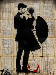View LOUI JOVER's Artwork on Saatchi Art. Find art for sale at great prices from artists including Paintings, Photography, Sculpture, and Prints by Top Emerging Artists like LOUI JOVER. Art And Illustration, Arte Black, Street Art, Newspaper Art, Art Of Love, Tinta China, Jackson Pollock, Art Plastique, Oeuvre D'art