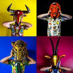 FOTOS | El viaje africano detrás de las máscaras del Carnaval de Barranquilla - VICE Hispanic Heritage, Princess Zelda, Costumes, Superhero, Brazil, Photography, Fictional Characters, Tattoos, People