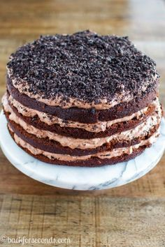 Chocolate Dirt Cake Layer Cake: Can your mind even handle the four layers on th… – Recipe Diet Dirt Cake Recipes, Delicious Cake Recipes, Yummy Cakes, Yummy Yummy, Easy Recipes, Homemade Chocolate, Chocolate Desserts, Chocolate Cake, Dirt Dessert