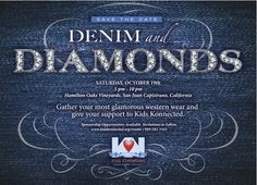 Save-the-date for Kids Konnected Denim & Diamonds