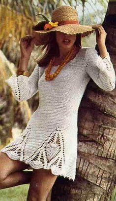 innovart en crochet: Vestida en crochet