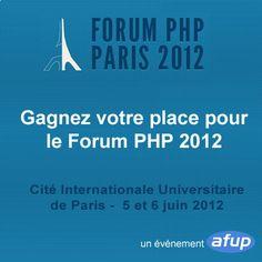 Gagnez votre place pour le Forum PHP 2012