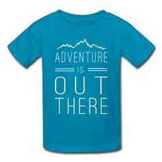 Adventure is out there Kids' t-shirt design with mountains