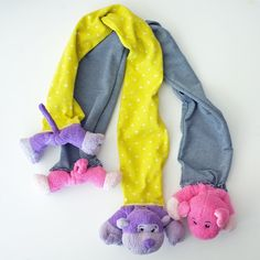 How to make stuffed animal scarves from Teal & Lime!
