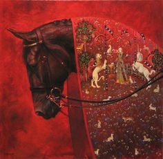 Jaime Corum ~In the great stories, the horse is presented as hero and protector—a symbol of surpassing strength, courage, beauty and fidelity. Those childhood horse legends formed my understanding of horses; my life with real horses has proved and refined it.  In many ways, my equine paintings & drawings are