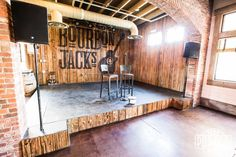Bourbon Jack's new Scottsdale location. Our Iowa Pine siding and Mushroom wood looks stellar in this reclaimed atmosphere.