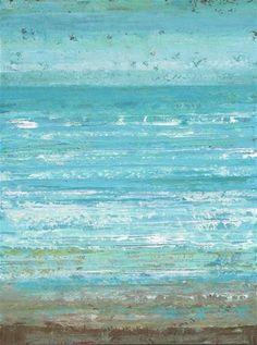 "Daily Paintworks - ""Surf Side"" - Original Fine Art for Sale - © Sue McLean"