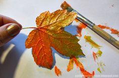 PynteMynthe og Mor: Efterårs sjov med maling og blade // Kreativ efterårsferie