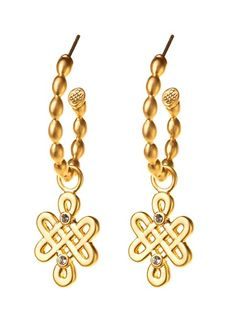 LOVE KNOT CHARMS, GOLD BP FINISH