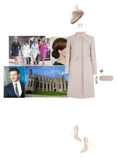 """Attending the Easter Sunday service at St George's Chapel with members of her family"" by hrhprincessamelia ❤ liked on Polyvore featuring Hobbs, M&S Collection, Sergio Rossi, Blue Nile, Alexander McQueen, Tissot and Tiffany & Co."