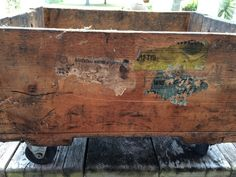 Vintage Industrial Rolling Crate by ContemporaryVintage on Etsy