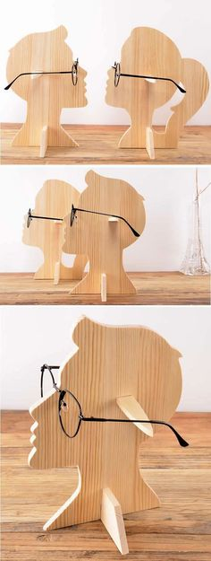Human Head Shaped Wooden Sunglasses Glasses Holder / Spectacle Display Stand Great to display temples Wood Projects, Woodworking Projects, Furniture Projects, Bois Diy, Displays, Wooden Sunglasses, Sunglasses Sale, Mirrored Sunglasses, Decoration Bedroom