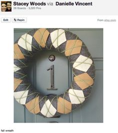 this looks easy.  although i've made a yarn wrapped wreath before and it is certainly tedious!