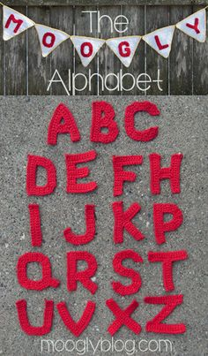 Free Tutorial on How to Crochet Alphabet by Moogly! #crochet