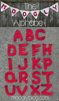 Free Crochet Alphabet by Moogly! #crochet