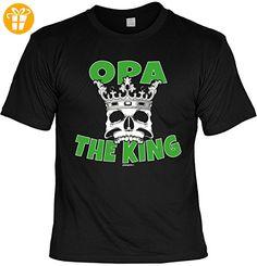 Opa Sprüche Tshirt - cooles für Großvater : Opa The King -- Geschenk T-