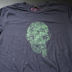 FACEMAZE GREEN DISTRESSED TSHIRT TEE
