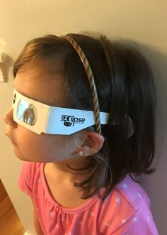 8397a5ecc1 Idea for small kids wearing solar viewing glasses  use a hair band with  plastic teeth