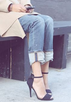 Invest in a pair of heeled sandals. With warmer temps right around the corner, it's time to say goodbye to winter footwear (that means you, chunky suede booties). Invest in a pair of simple-yet-chic heeled sandals. I guarantee you will live in them for months to come.