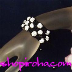 シャンバラブレス・3連・ブラック&ホワイト・クレイ・シャンバラ・ブレスレット
