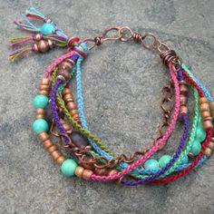 Boho style bracelet- perfect for summertime