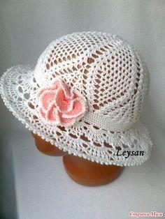 Летняя шляпка-панама (Вязание крючком) — Журнал Вдохновение Рукодельницы