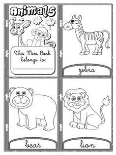 Animals - Colouring Mini Book