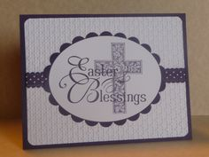 Stampin'Up Easter Blessings with Crosses of Hope and ribbon.