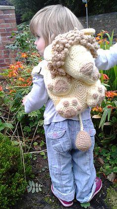Lion Kids Amigurumi Backpack pattern by Peach. Crochet Purses, Crochet Toys, Crochet Baby, Knit Crochet, Crochet Baskets, Toddler Bag, Toddler Backpack, Crochet Backpack, Backpack Pattern