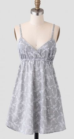 pretty embroidered grey dress  http://rstyle.me/~1nRF6