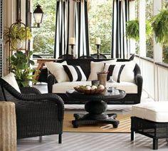 New black patio furniture cushions living rooms ideas Patio Furniture Cushions, Wicker Furniture, Living Furniture, Living Room Chairs, Living Room Decor, Outdoor Furniture Sets, Furniture Ideas, Furniture Buyers, Furniture Websites