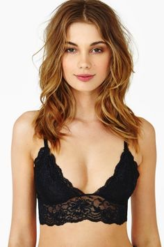 Caterina Lace Bralette in Black