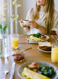 Recipe: Dandelion Greens and Pepper Omelet KINFOLK photo Ali Harper/Styling Ginny Branch