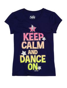 Keep Calm And Dance On Graphic Tee | Girls Graphic Tees Clothes | Shop Justice