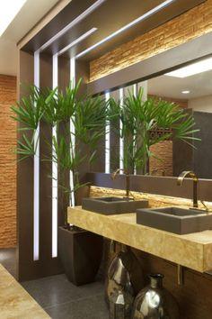 38 spaces form a complete condominium at CASA COR ES 2015 - New Deko Sites Modern Interior, Interior Architecture, Interior And Exterior, Interior Design, Bathroom Design Small, Modern Bathroom, Minimalist Small Bathrooms, Toilet Design, Duplex