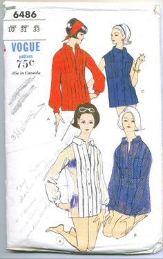 f55e409b280d87 Vintage 80s Pattern Simplicity 9993 Men's pullover top for stretch ...